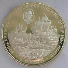 Cayman 1988 Columbus 5 Dollars Silver Coin,Proof