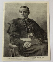 1885 magazine engraving ~ REVEREND JAMES GIBBONS Archbishop of Baltimore