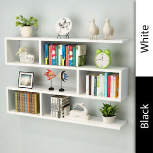 Retro Wall Mount Shelving Unit Organiser Storage Shelf Cubes Cabinet Livingroom