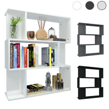 High Gloss Chipboard Bookcase Floating Display Cabinet Storage Unit Home Office