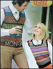 Knitting Pattern LADIES & MENS FAIR ISLE TANK TOPS Sleeveless Sweater Jumper Top