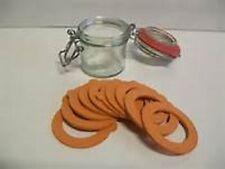 Set 10 Guarnizione guarnizioni per bottiglie barattoli e vasetti color arancione
