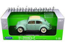 WELLY 18040 1950 VW VOLKSWAGEN CLASSIC OLD BEETLE SPLIT WINDOW 1/18 GREEN