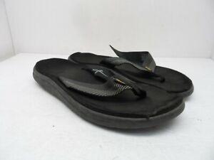 Teva Men's Voya Flip-Flops 1019050 Black/Grey Size 10M