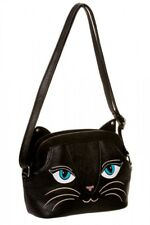 Banned Tasche Schultertasche Bag Black Cat Katze Meow Mieze Gothic #3152 162