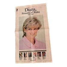 Vintage 1997 Princess Diana Passing Newspaper Full Commentary With Pictures