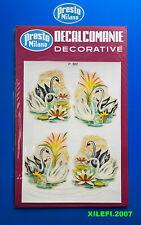 cigno cigni decalcomanie decorative anni 70 presto milano decorazioni cigni