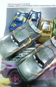 DISNEY PIXAR CARS - FEP PAINT TEST PROTOTYPE - BEACH RACERS- #82 SHINY WAX