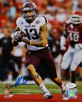 Mike Evans Signed *Blue Texas A&M 8x10 Vertical Running P.F. Photo- JSA W Au