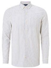 Men's John Lewis Vintage Blue Stripe Pointed Collar Shirt XS BNWT