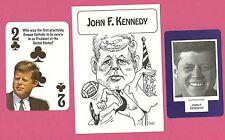 John F Kennedy JFK  Fab Card Collection S 1961 1st Roman Catholic President USA