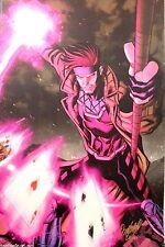 X-MEN GAMBIT Odagawa Autographed LARGE Comic Sketch Art POSTER 11x17 Marvel