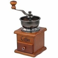 Hand Manual Coffee Grinder Mill Wooden Vintage Herbs Nuts Spices Kitchen Gift