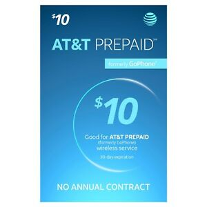 AT&T Go Phone $10 Refill - fast & righ