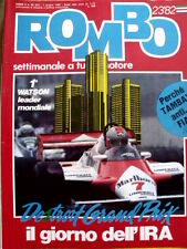 ROMBO n°23 1982 Rally Michele Mouton - Ricordo Gilles Villeneuve  [P26]