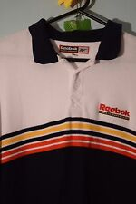 reebokrare vintage 80s 90s  athletics dept fine cotton knit polo shirt festival