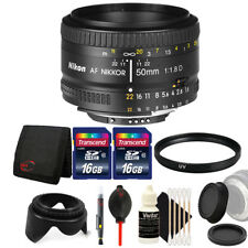 Nikon AF FX NIKKOR 50mm f/1.8D Lens for Nikon D7000 D7100 with Accessories