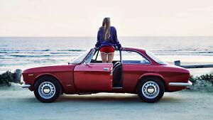 1967 Alfa Romeo on the beach dealer showroom 13 x 19 photograph