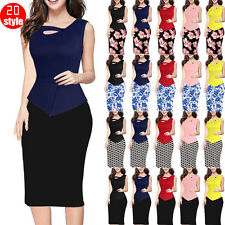 Women's Work Stretch Evening Cocktail Party Formal Pencil Long Sleeves Dress p20