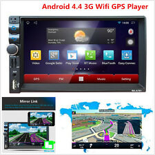 "GPS Wifi Android 4.4 CAR HD 7"" 2 DIN STEREO MP5 RADIO PLAYER BLUETOOTH FM/USB"