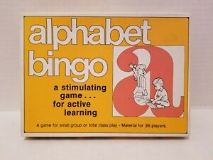 ALPHABET BINGO GAME 36 PLAYERS, BY TREND ENT. INC. VINTAGE 1978 Almost COMPLETE