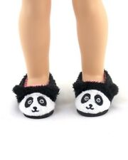 "For 14"" Wellie Wishers Doll American Girl Panda Bear Slippers Accessories Shoes"