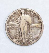 1927-S Standing Liberty Quarter VERY GOOD Silver 25c