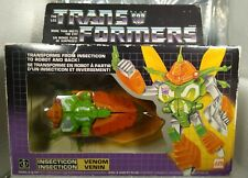 Venom Insecticon 1985 Vintage G1 Transformers Complete - Canadian Bilingual Box