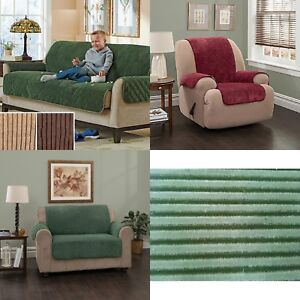 Plush Furniture Protectors Slipcover Water Proof Stripe Cover Recliner Sofa LS