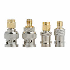 4Pcs BNC To SMA Type Male RF Connector Adapter Test Converter Kit Set New Glitzy
