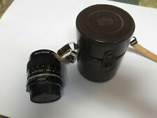 Nikon Micro-Nikkor 55mm F2.8 MF with original brown leather case