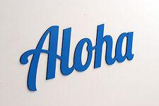 Aloha - Schriftzug Holz Deko Schrift Buchstaben Schriftzug Wand