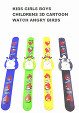 Niños Niñas Niños Niños Dibujos Animados 3D Reloj Angry Birds libre y rápido UK Post