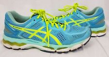 Asics Gel-Kayano 22 Women's Ice Blue Yellow Running Athletic Sneakers Size 11