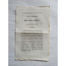 SOCIÉTÉ CATHOLIQUE des BONS LIVRES, Liste de livres à imprimer