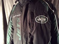 NFL XXL NY Jets Zip Winter  Up Jacket Green and Black with Hoodie Jacket Starter