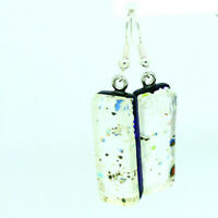 Murano Glass Drop Earrings Silver Millefiori Handmade Authentic Venetian