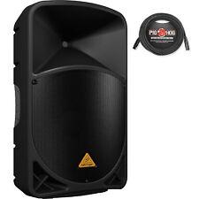 """Behringer EUROLIVE B115D Active 15"""" Speaker System w/ Pig Hog PHM20 XLR Mic Cabl"""