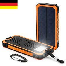 Power Bank Batterie Tragbar Externe USB Solar Power LED Ladegerät 30000mAh Akku