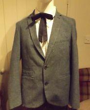 "1950s 60s Vintage Style Rockabilly Fleck Mod Box Hybrid Grey Jacket 42"" Chest"