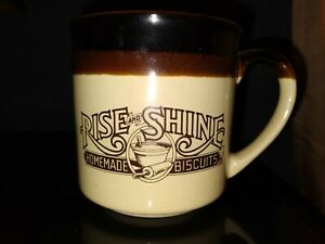 Vintage Hardees Coffee Cup Mug Rise And Shine Homemade Biscuits Vintage