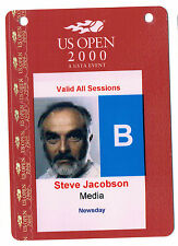 2000 Tennis US Open Media Pass Steve Jacobson Newsday Venus Williams RARE