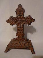 Cast Iron Religious Cross/Crucifix Rustic Home Decor