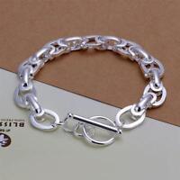 ASAMO Damen Herren Armband Gliederkette 925 Sterling Silber plattiert A1295