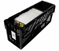 5 BCW Long Comic Book Bins - Black Plastic Storage Box