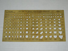 """Pipe Fittings Indicator No 253P  00006000 Pickett Template Drafting 1/8"""" 1/4"""" 1/2"""" Scale"""