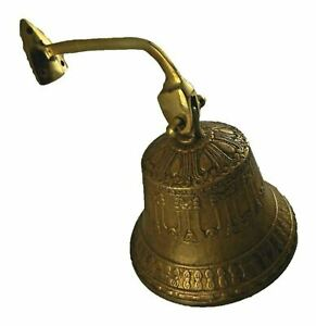 Nautical Ship Bell Wind Chime Bronze Handcrafted Door Knocker Hanging Gate Bell
