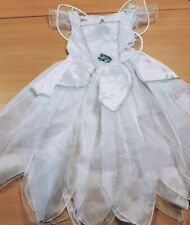 Beautiful Children's White Fairy Fancy Dress Costume with Wings Dress Up Age 3-4