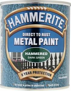 Hammerite METAL PAINT HAMMERED DARK GREEN 750ML
