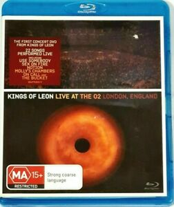 KINGS OF LEON: LIVE AT THE 02 LONDON, ENGLAND Blu Ray (2009) VGC